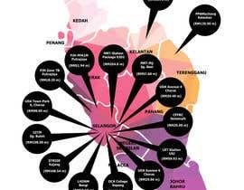 nº 11 pour Infographic Map par ashfarullah