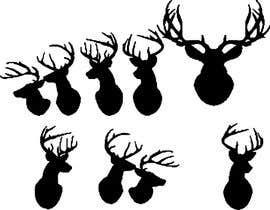 nº 19 pour Illustrate deer silhouette par AAAwang