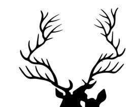 nº 13 pour Illustrate deer silhouette par MadArtz11