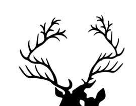 nº 14 pour Illustrate deer silhouette par MadArtz11