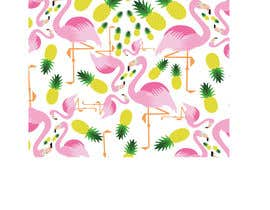nº 25 pour Flamingo and pineapple repeating pattern for a phone case. par Acostadf
