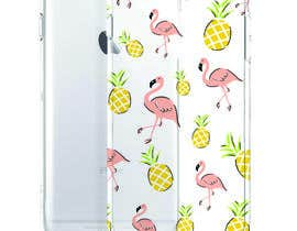 nº 10 pour Flamingo and pineapple repeating pattern for a phone case. par wandarose