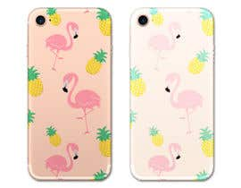 nº 28 pour Flamingo and pineapple repeating pattern for a phone case. par TEETEEDesign