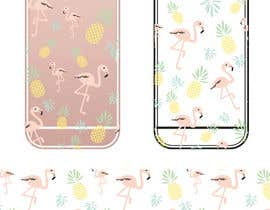 nº 26 pour Flamingo and pineapple repeating pattern for a phone case. par yuntaraquel