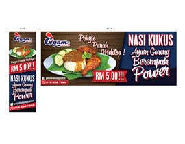 nº 53 pour Banner + Bunting for - Nasi Kukus Ayam Pokyie par HazwanRahim