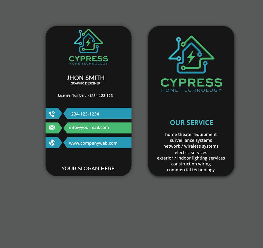 Entry #236 by Sagor7777 for Business Card Design - Technology ...