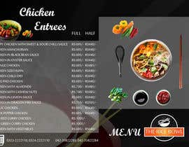nº 6 pour Designing a Chinese take away menu par enghayamsaid