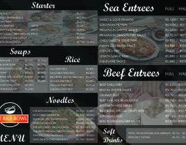 nº 8 pour Designing a Chinese take away menu par enghayamsaid