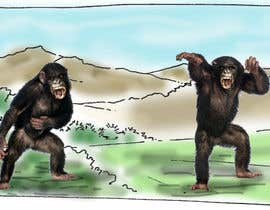 nº 5 pour Drawing of two realistic fighting male chimps par sidahmedlasbeur