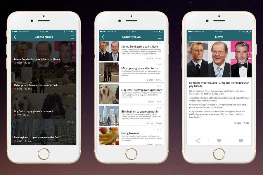 Entry #2 by amitpokhriyalchd for need a new design for my news app