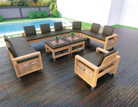 nº 39 pour Outdoor sectional wooden set -design par acepcuyana