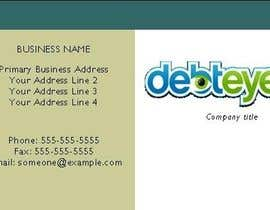 #135 για Business Card Design for Debteye, Inc. από JerrittaS