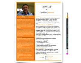 nº 14 pour Design a Flyer - Capability Statement par mdmanzurul