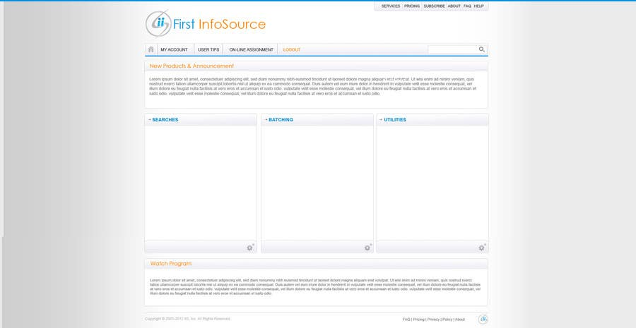 Contest Entry #                                        61                                      for                                         Website Design for First InfoSource