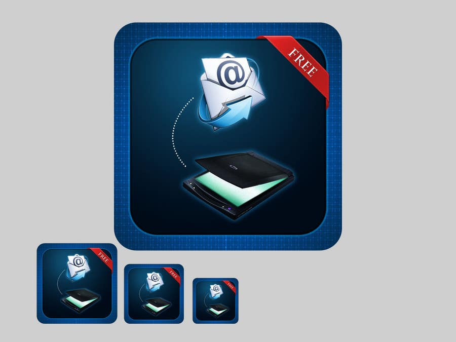 Proposition n°                                        96                                      du concours                                         Icon Design for a Document Scanner Phone App