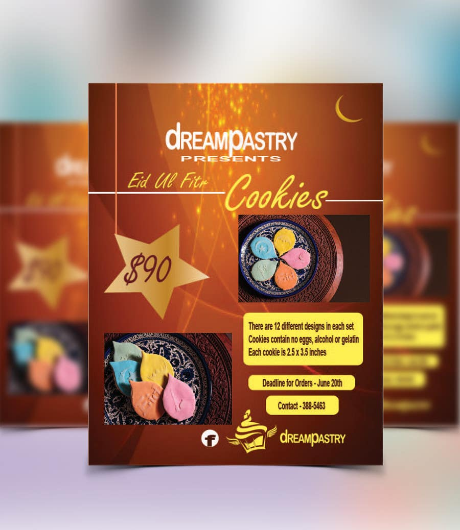 Proposition n°11 du concours Specialty Bakery Needs Eid Ul Fitr  Flyer