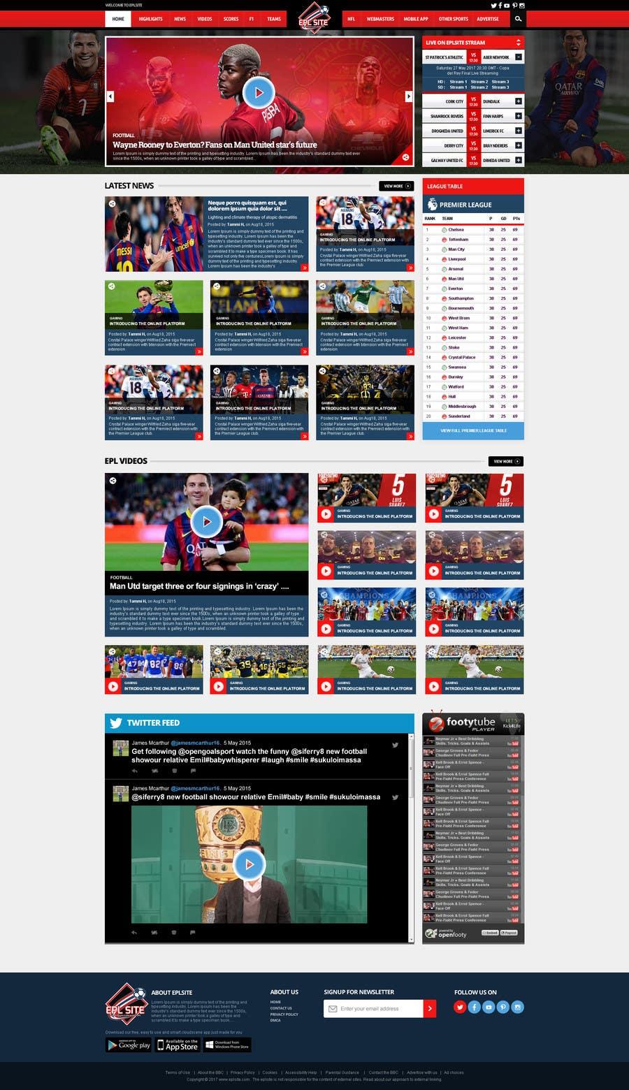 Proposition n°36 du concours Design a Mockup for Football website