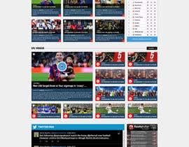 nº 36 pour Design a Mockup for Football website par nikil02an
