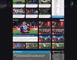 nº 38 pour Design a Mockup for Football website par nikil02an