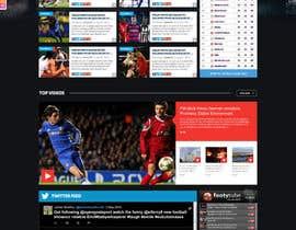 nº 53 pour Design a Mockup for Football website par nikil02an