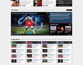 nº 56 pour Design a Mockup for Football website par nikil02an