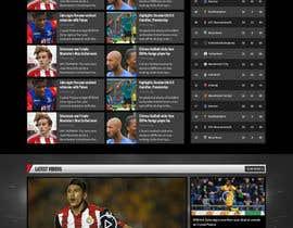 nº 49 pour Design a Mockup for Football website par pixelwebplanet