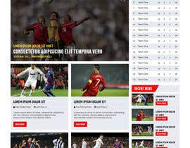 nº 41 pour Design a Mockup for Football website par maxmediapixels