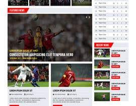 nº 42 pour Design a Mockup for Football website par maxmediapixels