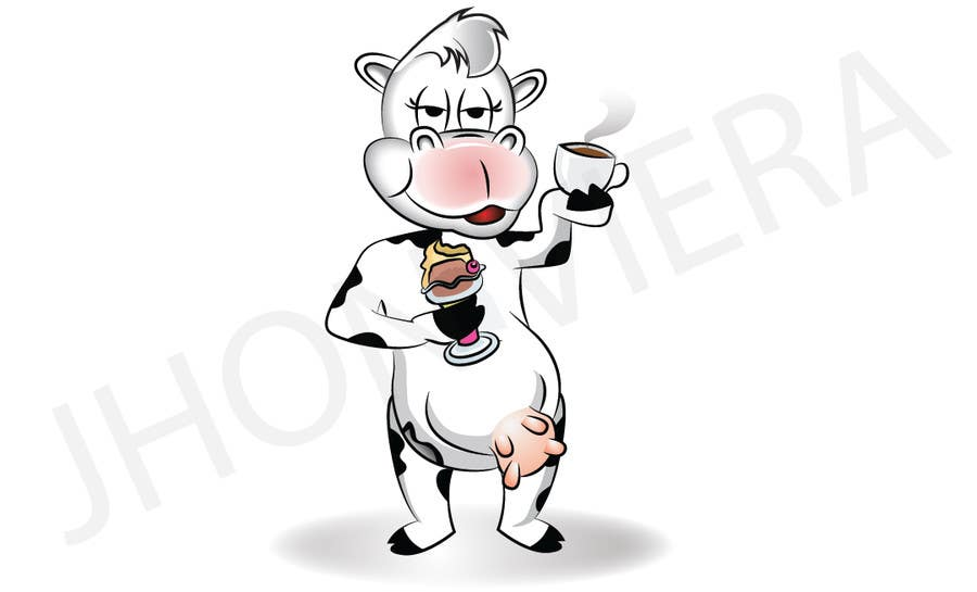 Proposition n°1 du concours Modify Illustration of Cow Ice Cream Mascot