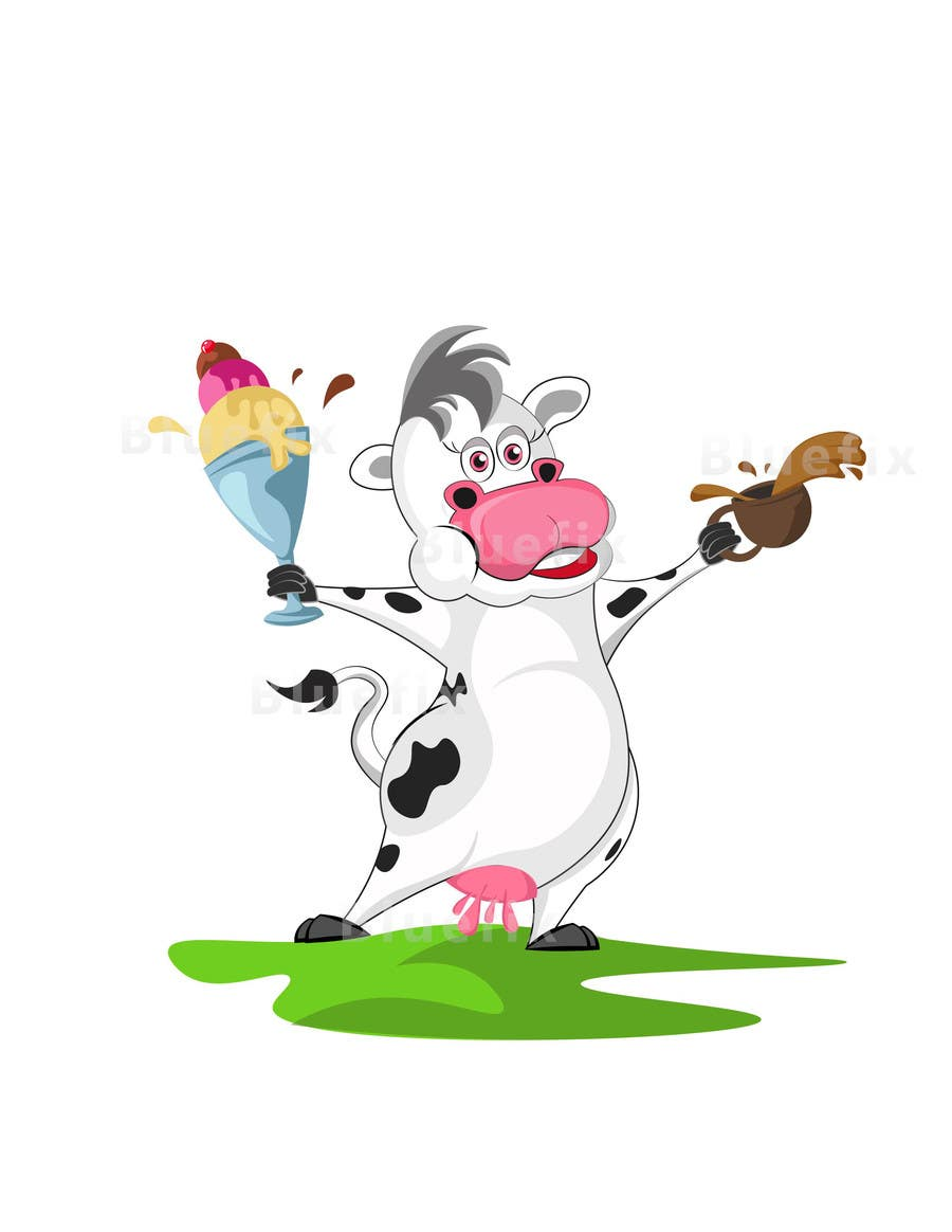 Proposition n°2 du concours Modify Illustration of Cow Ice Cream Mascot