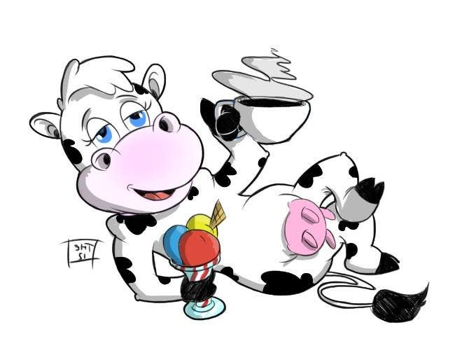 Proposition n°7 du concours Modify Illustration of Cow Ice Cream Mascot
