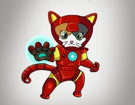nº 16 pour Design a Logo (Iron Man Cat) par sslodhi