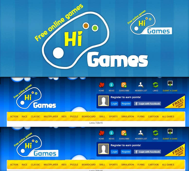 #108 for Logo Design for HiGames.In by marceloquiroz