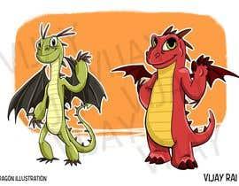 nº 6 pour Mascot logo needed! Friendly Dragon par vijayrai1989