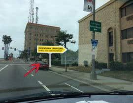 nº 18 pour Photoshop a public city sign that goes over the street par violasziky