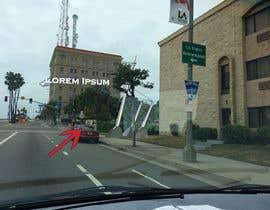 nº 2 pour Photoshop a public city sign that goes over the street par godraw