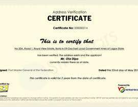 nº 12 pour Design a certificate par sitestars
