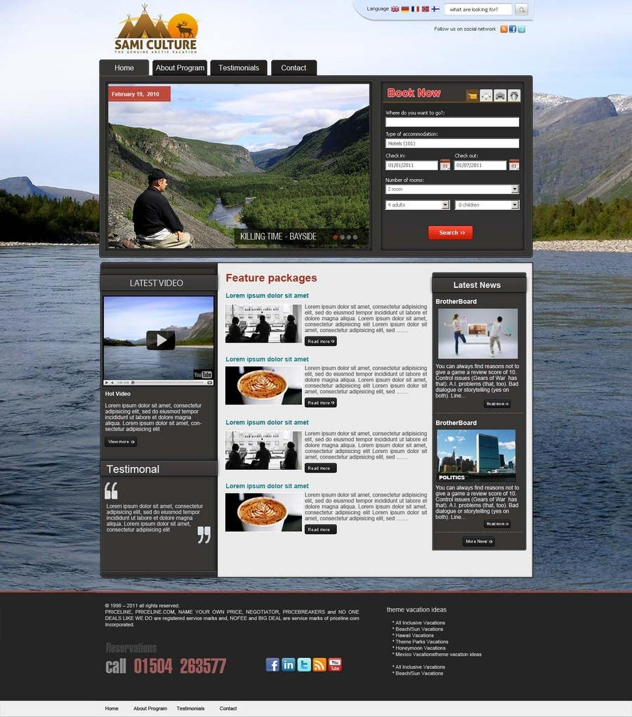 Contest Entry #                                        33                                      for                                         Website Design for Sami Culture (Joomla!)