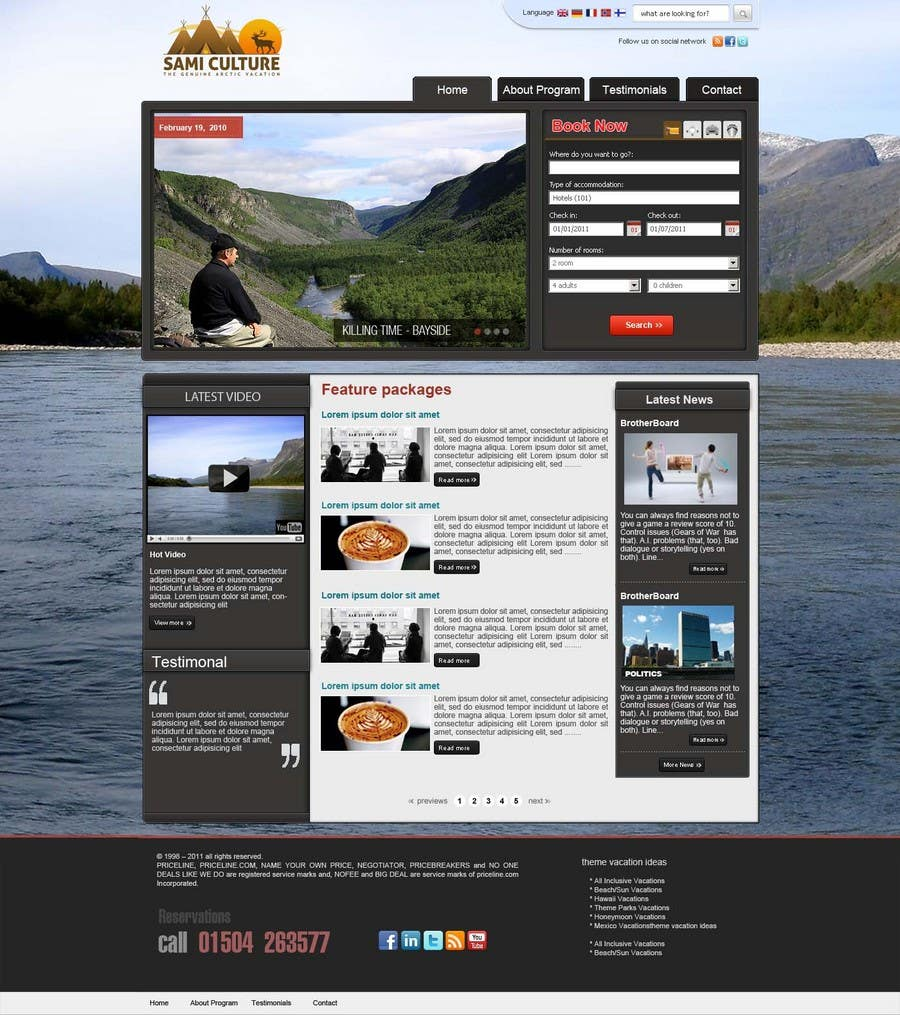 Contest Entry #                                        50                                      for                                         Website Design for Sami Culture (Joomla!)