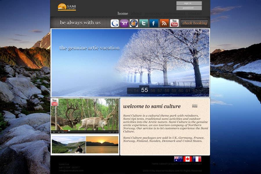 Contest Entry #                                        18                                      for                                         Website Design for Sami Culture (Joomla!)