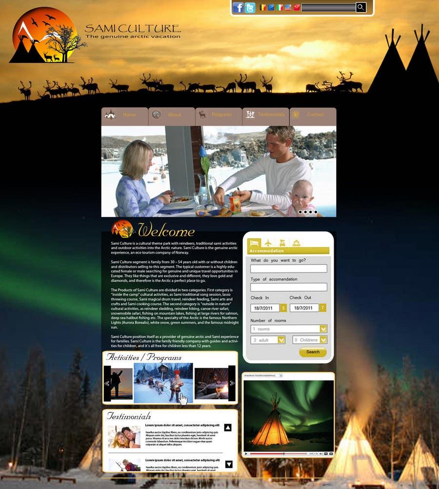 Contest Entry #                                        58                                      for                                         Website Design for Sami Culture (Joomla!)