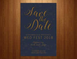 nº 19 pour WEDDING INVITE - SAVE THE DATE par teAmGrafic