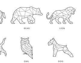nº 10 pour Design geometric animal heads icons par tomclayton