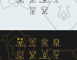nº 11 pour Design geometric animal heads icons par Stellarhorse