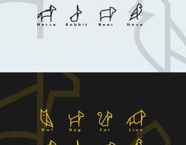 nº 22 pour Design geometric animal heads icons par Stellarhorse