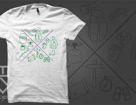 nº 13 pour Design 3 simple lined camping/outdoor T-shirts par tsproject10