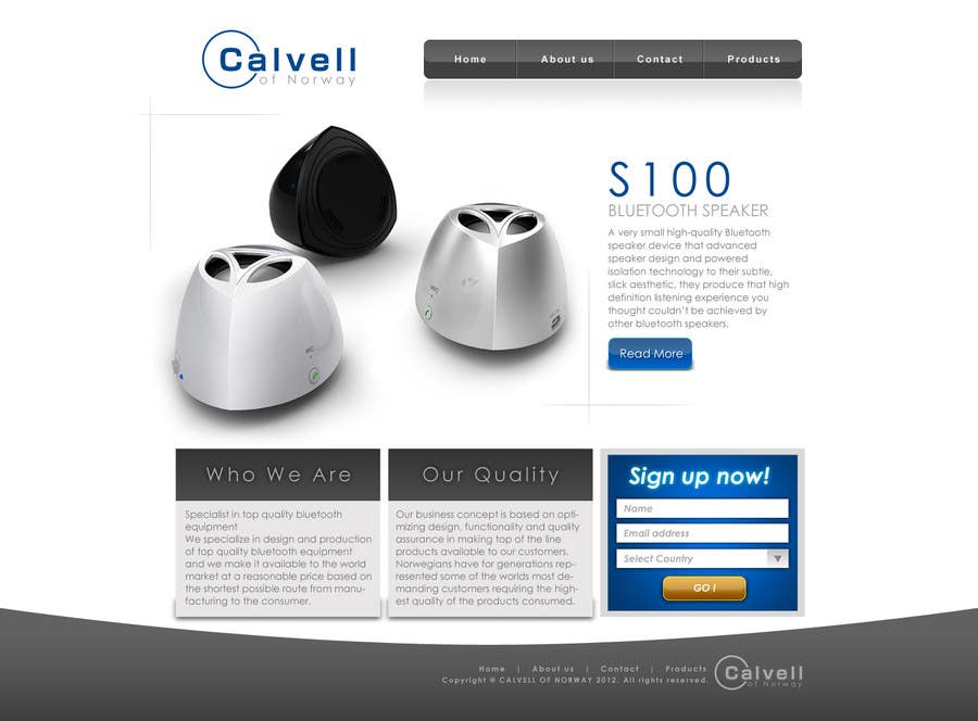 Website Design for Calvell.com