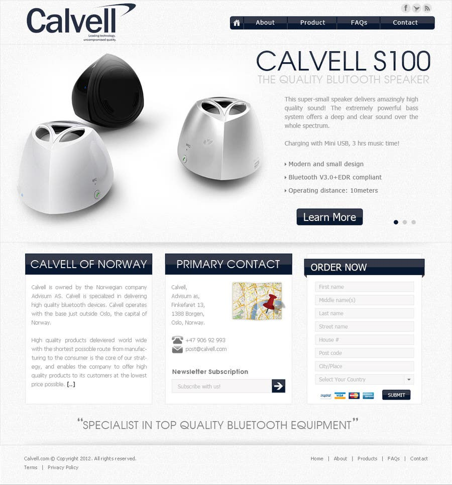 #78 for Website Design for Calvell.com by datagrabbers