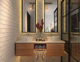 nº 53 pour 3d render of bathroom par salhazeema