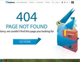 nº 30 pour Design a creative 404 page for Freelancer.com par Whitemask007